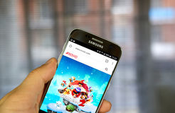 Rovio on the web. MONTREAL, CANADA - JULY 30, 2017 : Rovio on the web. Rovio Entertainment Ltd is a Finnish developer, publisher, distributor of video games and Royalty Free Stock Images