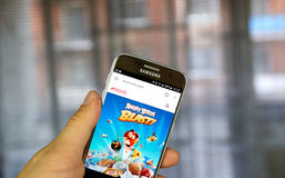 Rovio on the web. MONTREAL, CANADA - JULY 30, 2017 : Rovio on the web. Rovio Entertainment Ltd is a Finnish developer, publisher, distributor of video games and Stock Image