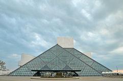 Rock and roll hall of fame. Image of the rock and roll hall of fame in Cleveland Ohio Royalty Free Stock Photography