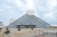 Rock and roll hall of fame. Image of the rock and roll hall of fame in Cleveland Ohio Stock Photo