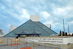 Rock and roll hall of fame. Image of the rock and roll hall of fame in Cleveland Ohio Stock Photos