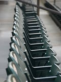 A row. View of a baseball park before the crowd arrives Royalty Free Stock Photos