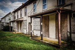 Row of abandoned houses in Bairs, Pennsylvania. Stock Images