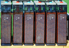 Row of accumulators Royalty Free Stock Photo