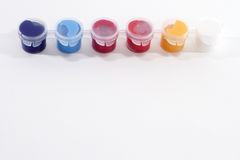 Row of Acrylic Paints Stock Images