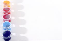 Row of Acrylic Paints Royalty Free Stock Photo
