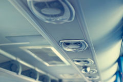 Row of airconditioning system in shuttle bus, making cool fresh air Stock Photography