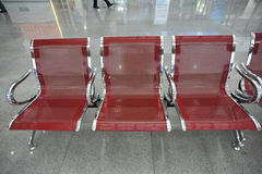 row of airport seats Stock Images