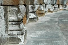 Row of ancient columns Royalty Free Stock Photography