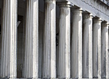 Row of ancient Greek pillars Royalty Free Stock Photos