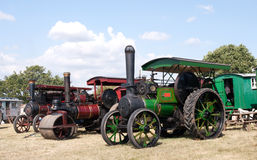 Row of ancient steam engines Stock Image
