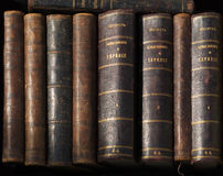 Row of Antique Books Royalty Free Stock Photo