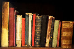Row of antique books Stock Photography