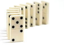 Row of Antique Dominoes Royalty Free Stock Photography