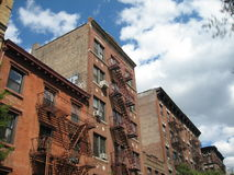 Row of Apartment Buildings NYC Royalty Free Stock Photography