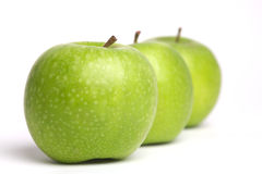 A row of apples Stock Photography