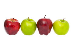 Row of apples Royalty Free Stock Photos