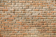 Row arrangement of old brick wall use as texture background,back Stock Image