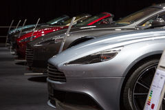Row of Aston Martins Stock Image