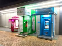 Row of ATM cash point machines Stock Image