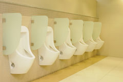 Row automatic urinals Royalty Free Stock Photo