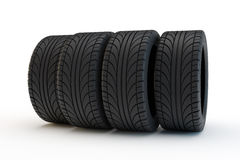 Row of automobile tires Stock Image