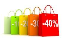 Row bag 40 Stock Image