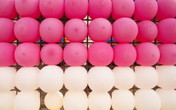 Row of balloons. Royalty Free Stock Photos