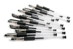 A row of ballpoint pens Stock Photography