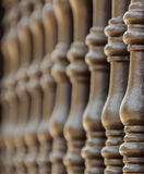 Row of balusters. Of a balcony's railing Stock Photography