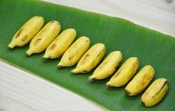 Row bananas Royalty Free Stock Photos