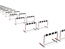 Row of barriers to success Royalty Free Stock Photo