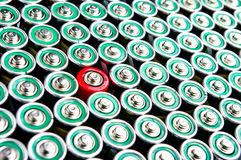 Row of  batteries Royalty Free Stock Image