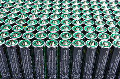Row of  batteries Royalty Free Stock Photos