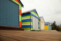 Row of beach boxes Royalty Free Stock Image