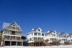 Row of Beach Homes Royalty Free Stock Photography