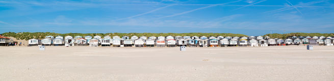 Row of beach houses, Netherlands Stock Photography