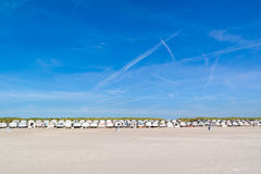 Row of beach houses, Netherlands Stock Photos
