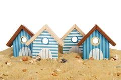 Row beach huts Royalty Free Stock Image
