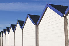 Row of beach huts royalty free stock photography