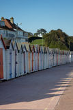 A row of beach huts Stock Photography