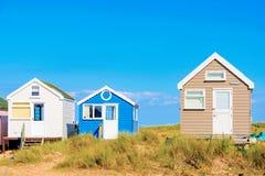 Row of beach huts Royalty Free Stock Photos
