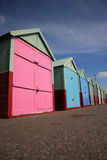 Row of beach huts Brighton Stock Image