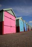 Row of beach huts Brighton stock image