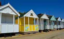 Row of beach huts Royalty Free Stock Photography