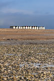 Row of Beach Huts Goring beach Stock Photos