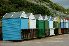 A row of Beach Huts at the seaside Royalty Free Stock Image