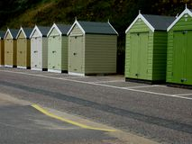 A row of Beach Huts at the seaside Stock Photography