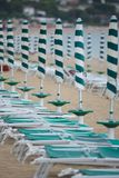 Row of Beach Umbrellas Royalty Free Stock Photos