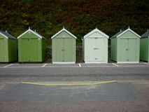 A row of Beachhuts at the seaside Stock Photography